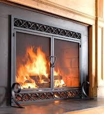 good wood fireplace door replacement outstanding replacing open or closed with blower canada burning glass screen without