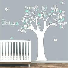 white tree wall decals for nursery modern decal ideal