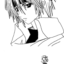 Small Picture Anime Boy Coloring Pages download free printable coloring pages