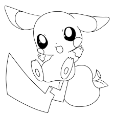 Pokemon Coloring Pages Printable Page Showy Cute Pichu Fee Pikachu