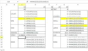 Excel Statistics Formulas Excel Stats Statistics Excel Excel ...