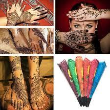Drop Ship Indická Henna Pasta Dočasné Tetování Vodotěsné Tělesné Barvy Hena Art Cream Cone Pro šablonu Mehndi Body Art At Vova