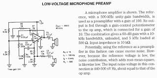audio preamp circuit diagrams circuit schematics low voltage microphone preamplifier using lm10