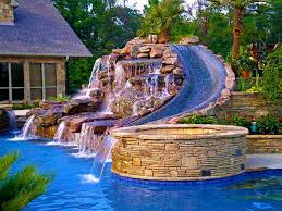 Image Ideas Landscaping And Interior Decoration Pool Waterfall And Slide Pinterest Landscaping And Interior Decoration Pool Waterfall And Slide