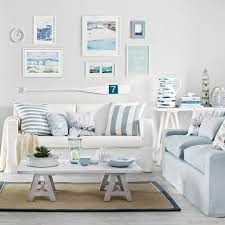 Stylish wall decor choice for hanging clothes, jewelry, towels, etc. Casual Coastal Living Room Decor Ideas With A Beach Vibe From House To Home Coastal Decor Ideas Interior Design Diy Shopping