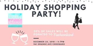 Holiday Shopping Party For Fashionkind Pretty Please Charity