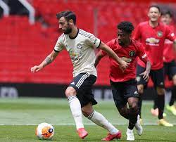 Manchester united scores, results and fixtures on bbc sport, including live football scores, goals and goal scorers. Pictures Manchester United Players Contest Practice Match At Old Trafford Manchester Evening News