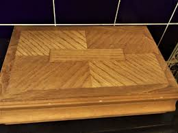 good large size wooden jewellery box compartments hooks unusual inlaid lid