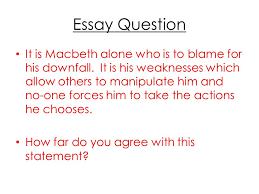 macbeth william shakespeare ppt video online  essay question