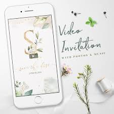 Electronic Save The Date Wedding Invitations Video Electronic Invitations Whatsapp Wedding Invitation Save The Date Invitations E Invit