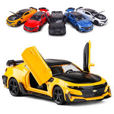 The one that starred in the sequel transformers: Miniauto 1 32 Transformers 5 Bumblebee Chevrolet Camaro Diecast Car Model Gift Toy Shopee Singapore