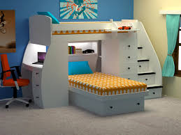 Bedroom:Small Room With Space Saving Bed Which Has Double Bed And Studying  Desk With