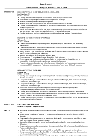 System Engineer Resume Senior Systems Engineer Resume Samples Velvet Jobs 19