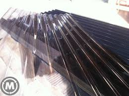 polycarbonate 760 corrugated roofing smokey grey colour