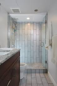 Part Tiled Bathrooms 17 Best Ideas About Vertical Shower Tile On Pinterest Large Tile