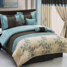 pasadena light blue metallic coffee 11 piece bed in a bag