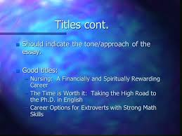 titles for research assignments titles n good titles make  5 titles