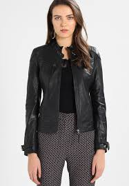 ryana leather jacket black
