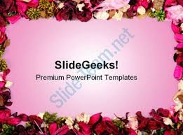 Ppt Flowers Dried Flowers Frame Background Powerpoint Templates And Powerpoint