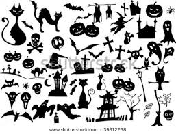 vector collection of halloween silhouettes - more available