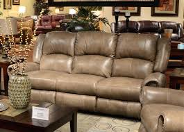 reclining sofa with drop down table power leather reclining sofa with drop down table by signature