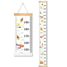 Hanging Growth Chart Details About Cartoon Children Height Ruler Canvas Hanging Growth Chart Kids Room Wall Decor