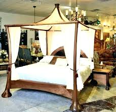 King Size Canopy 4 Poster Bed Curtains Queen Amazing Sets Home ...