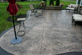 Stamped Concrete Kitchen Floor Stamped Concrete Patio Saving Much Of Your Budget Amaza Design