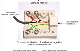 wiring diagram phone jack wiring diagram how to hook up phone Telephone Network Interface Device to network interface device connect all similiar colored together phone jack wiring diagram plugging cord here