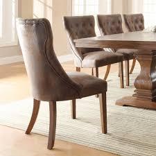 Weathered Oak Furniture Homelegance Marie Louise Side Chair In Weathered Oak Set Of 2