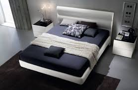 View in gallery Floating bed upholstered in chic eco leather for the  environmentally conscious