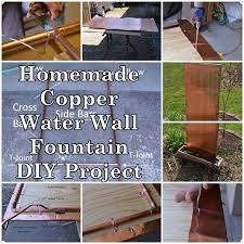 homemade copper water wall fountain diy project