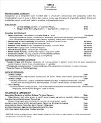Resumes For Nursing Students Resume For Nursing Student New Sample