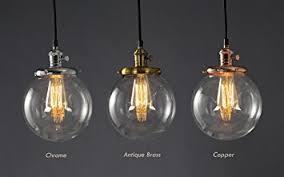 Lampadario Cucina Vintage : Lampadario a sospensione feven paralumi sferici in vetro
