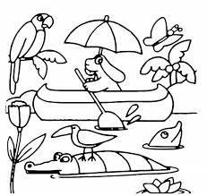 La Pimpa In Canoa Disegno Cartoni Animati Colorare
