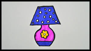 How To Draw A Lamp Drawing And Coloring For Kids Drawing