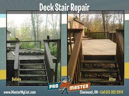 deck stair repair promaster cincinnati