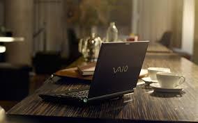 Sony VAIO laptop on the desktop - HD ...