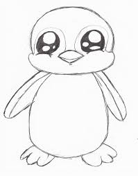 baby penguin drawing in pencil.  Penguin Penguin Drawing  Google Search Cute Animal Drawings Sketches Pencil  Cartoon In Baby Penguin Drawing P