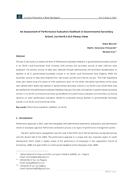 employee evaluation feedback pdf an assessment of performance evaluation feedback in