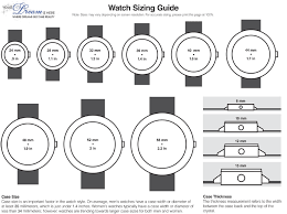 Watch Sizes Chart Guide To Watch Case Sizing Watch Case Watches Mens