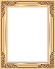 antique frame border. Vintage Frame Retro Decoration Corner Template Design.Gold Photo With Line Floral For Antique Border E