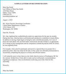 Letter Of Recommendation For Internship Internship Reference Recommendation Letters 8 Best Samples