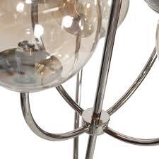 worlds away monty 8 arm chandelier nickel