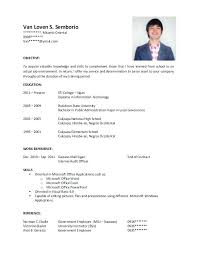 Post Graduate Resume Resume Format For Postgraduate Students Latex
