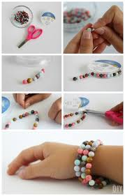 kids crafts beaded stretch bracelets these beaded stretch bracelets are such a great craft