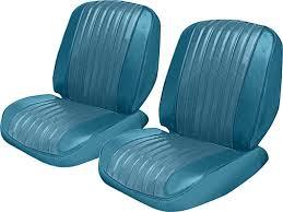 1969 impala 2 door hardtop with split bench seat turquoise cloth turquoise vinyl upholstery set