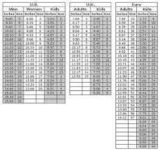 Soccer Boot Size Chart Inches Shoe Size Chart For Hand Made Shoes For Adults