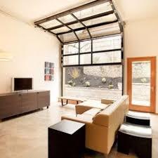 Wonderful Glass Garage Door Living Room Inside Innovation Ideas