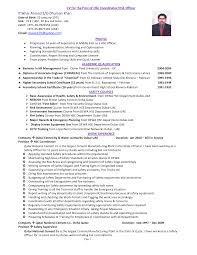 Environmental Officer Sample Resume Best Solutions Of Environmental Health Safety Engineer Sample 1